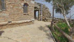 Saint Panteleimon monastery, the main church, Mount Athos, Greece stock video footage