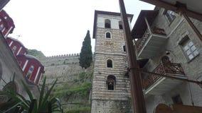 Saint Panteleimon monastery, the main church, Mount Athos, Greece stock video