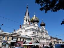 Saint Panteleimon Monastery no centro de Odesa fotografia de stock