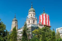 Saint Parascheva Metropolitan Cathedral in Iasi towers in full p Stock Photography