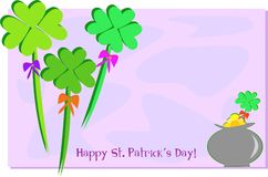 Saint Patrick's Day with a Pot of Gold Stock Photo