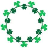 Saint Patrick's Day Wreath Frame border royalty free illustration