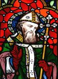 Saint Patrick. Stained glass image of St. Patrick Royalty Free Stock Photography