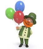Saint Patrick with ballon Stock Photography