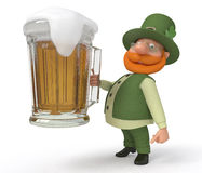 Saint Patrick with beer Stock Photo