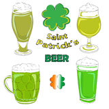 Saint patrick beer pints Stock Photos