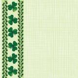 Saint Patrick border Stock Image