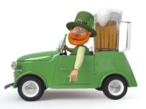 Saint Patrick by car Royalty Free Stock Photo