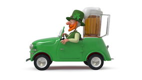 Saint Patrick by car stock video footage