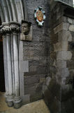 Saint patrick cathedral. Detail of the entrance of saint patrick cathedral in dublin Royalty Free Stock Images