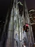 Saint Patrick cathedral in New York. Night view on Saint Patrick Cathedral in NewYork Royalty Free Stock Image