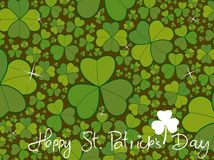 Saint patrick clover background Royalty Free Stock Photos