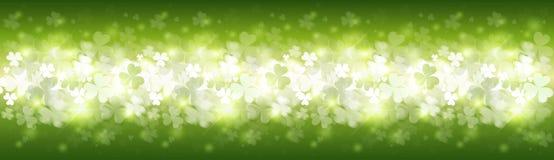 Saint Patrick Day Beer Festival Banner de fond de modèle d'oxalide petite oseille Image stock