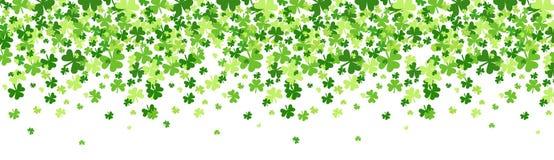 Saint Patrick Day Beer Festival Banner do fundo do teste padrão do trevo ilustração stock