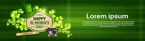 Saint Patrick Day Beer Festival Banner Greeting Card Stock Photos