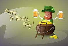 Saint Patrick Day Beer Festival Banner Greeting Card Royalty Free Stock Photo
