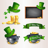 Saint Patrick Day Beer Festival Banner Icon Set Royalty Free Stock Photography