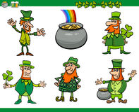 Saint patrick day cartoon set Stock Photos