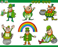Saint patrick day cartoon set Royalty Free Stock Photography
