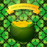 Saint Patrick Day greeting card design Royalty Free Stock Image