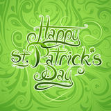 Saint Patrick Day greeting card design Royalty Free Stock Images