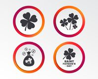 Saint Patrick day icons. Money bag with coins. Royalty Free Illustration