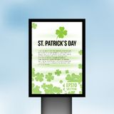 Saint Patrick Day light board vector background Royalty Free Stock Image