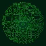 Saint Patrick Day Line Concept ilustração royalty free