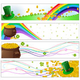 Saint patrick day party banners Royalty Free Stock Images