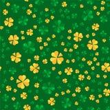 Saint Patrick day seamless pattern design. La Fheile Padraig hol Royalty Free Stock Image