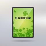 Saint Patrick Day tablet vector background Royalty Free Stock Photography