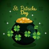 saint patrick day treasure pot Royalty Free Stock Images