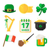Saint Patrick day vector elements design. Stock Image