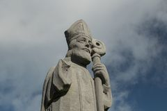 Saint Patrick at Downpatrick head. In ireland Royalty Free Stock Images
