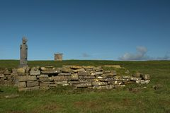 Saint Patrick at Downpatrick head. In ireland Royalty Free Stock Photos