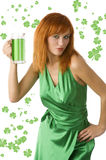 Saint patrick dress Stock Photo