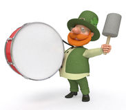 Saint Patrick with drum Stock Images