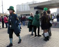 Saint Patrick Festival, Moscou Photos stock