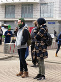 Saint Patrick festival, Moscow. Russia. Moscow. March 18, 2017. The festival of Saint Patrick at Sokolniki park. Man with green hair and beard Royalty Free Stock Images