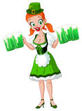 Saint Patrick girl Royalty Free Stock Image