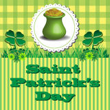 Saint Patrick golden pot Royalty Free Stock Images
