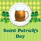 Saint Patrick greeting Stock Image