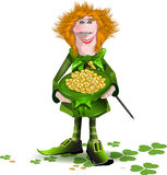 Saint Patrick and hat with money Royalty Free Stock Photos