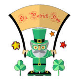 Saint Patrick illustration Stock Images