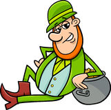 Saint patrick leprechaun cartoon Royalty Free Stock Photography