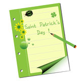 Saint Patrick notebook Stock Image