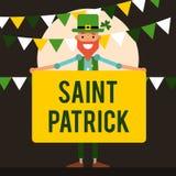 Saint Patrick O caráter principal é um feriado irlandês em março w Fotografia de Stock