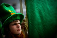 Saint Patrick parade in Bucharest, Romania. Stock Image