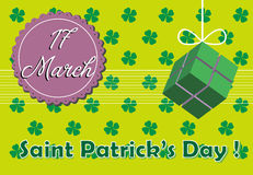 Saint Patrick postcard Stock Photography