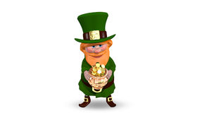 Saint Patrick Pot with Coins stock video footage